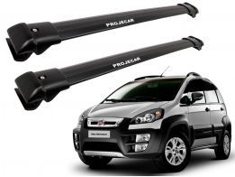 Rack Travessa de Teto para Fiat Idea Adventure Locker - Projecar Preto Largo