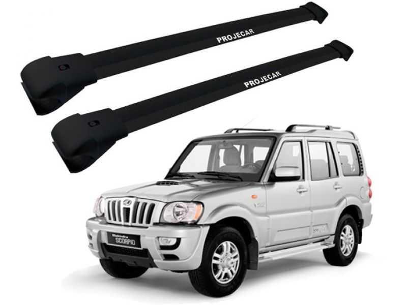 Rack Travessa de Teto para Mahindra Suv (todos) - Preto Largo Projecar Ma-9000