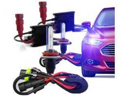 Kit Xenon Slim H7 10000K - Azul