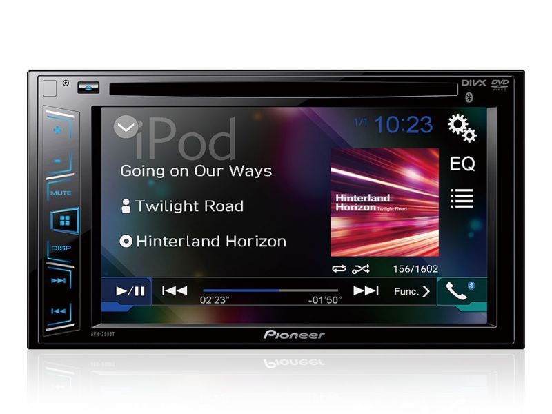 Vista frontal DVD Player Pionner com Bluetooth