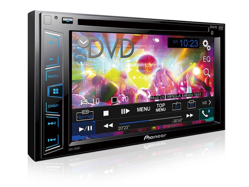 Vista em perspectiva DVD Player Pionner com Bluetooth