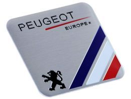 Emblema Badge Peugeot Europe 6x5cm